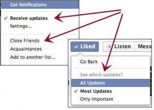 Configurações no Facebook