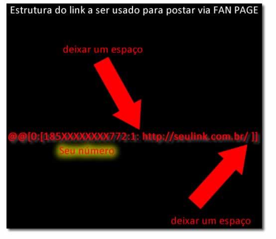 como postar fotos com link 4