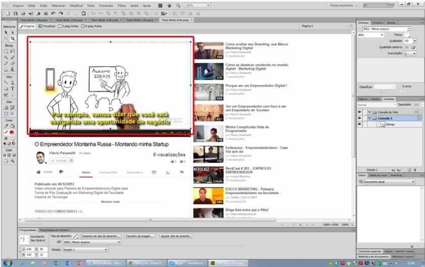 como fazer para inserir imagem e fotos com link 3